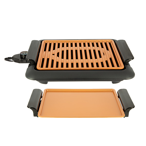 video GOTHAM STEEL SMOKELESS GRILL 2 EN 1 - Grille et Plancha