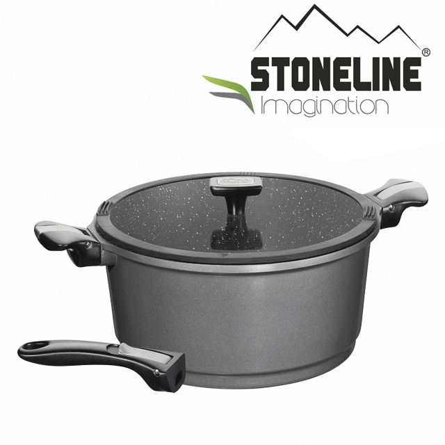 STONELINE Faitout en Pierre* Imagination Gris 28 cm